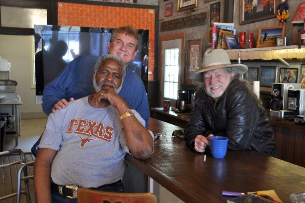 Randy Willis, Willie Nelson, and Earl Campbell