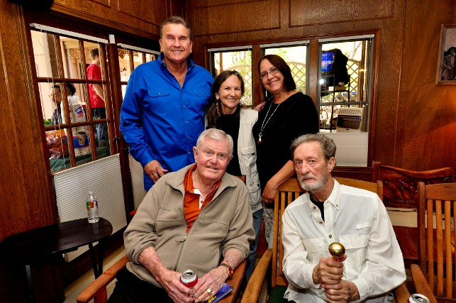 Randy Willis, Rattlesnake Annie, Lenny Vaughan (Stevie Ray Vaughan's widow), Coach Darrell K Royal, and Freddy Powers. Randy Willis's home.
