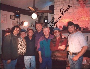 Larry Gatlin, Randy Willis, Darrell Royal, Freddy Powers