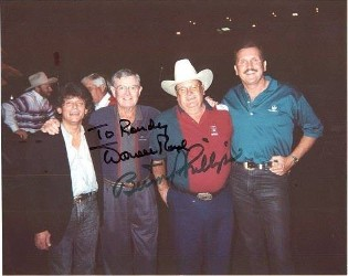 Johnny Rodriguez, Darrell Royal, Bum Phillips and Randy Willis